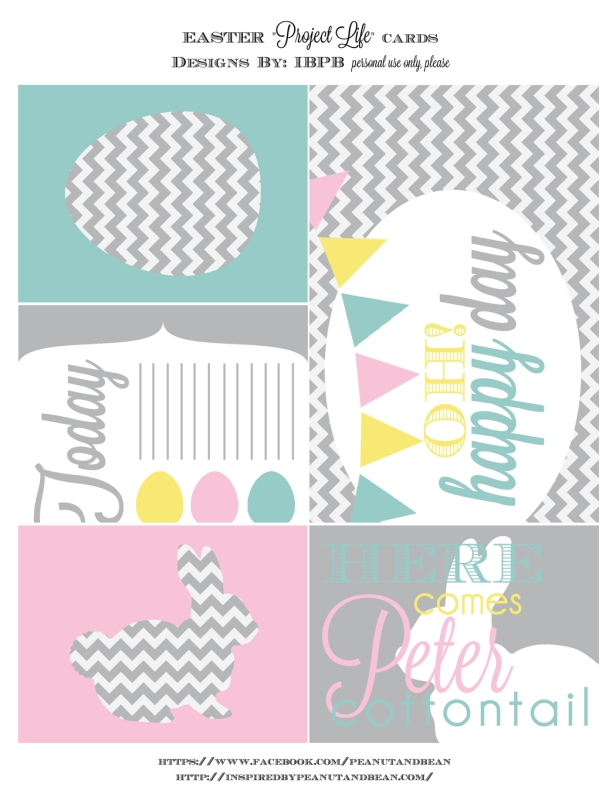 {Free} Easter Printables & Project Life